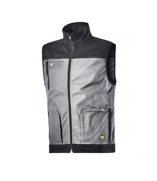 Icon Gilet Stretch Rain Grey