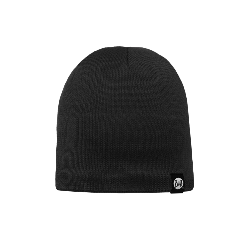 Knitted & Polar Hat Solid Black 111474_999_10_00-1